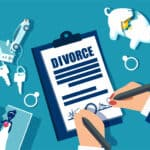 Divorce and property divison concept.