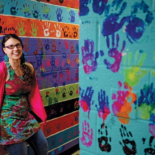 Erin Cassell's tie dye business dips into everything from children's parties to corporate retreats.